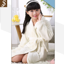 S&J high quality 100% polyester plain dyed flannel sequin girl bathrobe