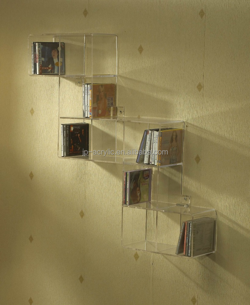 Bookshelves Acrylic Book Display Storage wall shelf