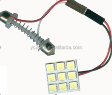 T10 Ba9s Festoon 9SMD 5050 Auto Light PCB, Auto LED Room/Roof Lamp/Car Dome Light