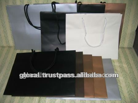 Luxury Shopping Stocklot Paper Bag LOW PRICE--- Black, Gold, Silver, Champagne Gold, Charcoal, and White ---