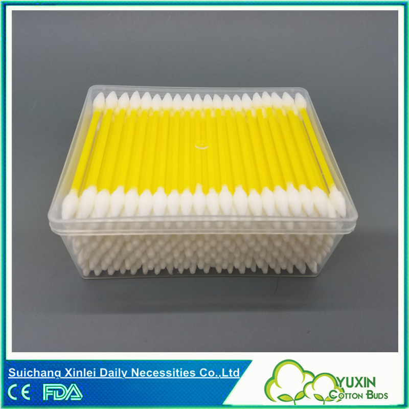 YUXIN Plastic spiral cotton buds rectangular PP box packing 200pcs