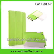 Green folding tablet case cover for ipad 5