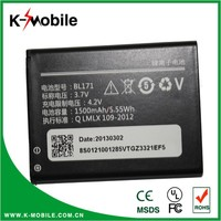 BL171 battery A60 A500 A65 A390 A368 A390T Li-ion Mobile Phone Battery for Lenovo
