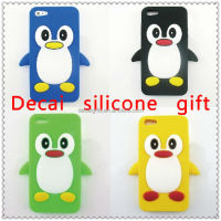 2013 Customized colorful silicon penguin phone cover case