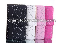 Bling Leather Wallet Case For Samsung Galaxy Note 3