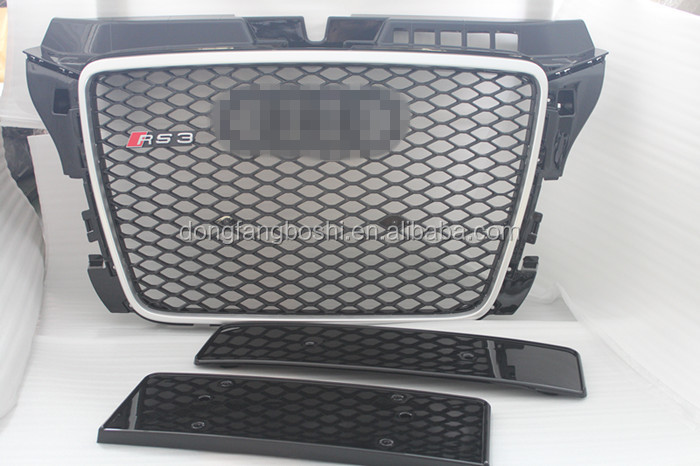For AUDI A3 2005-2007 RS3 front grille RS3 grille A3 car 8P