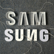 3d acrylic material plastic led letter small signs for shop
