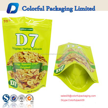 High quality food wheyprotein doypack snack potato chips packaging bag
