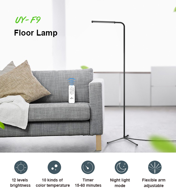 UYLED F9 5W Wireless Dimmable Color Changing LED Floor Lamp