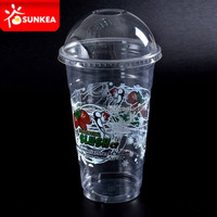 PP PET plastic custom large frozen drinking cups