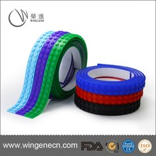 Silicone Material Education Toy Block, Brick Tape, Building Brick Silicone Legos Tape