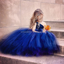 new trendy children ballet dress navy chiffon dress wedding dress for girls
