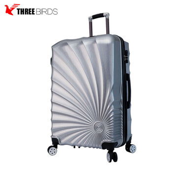 New Product Fashion Portable Hard Side 4 Wheeled ABS PC Luggage
