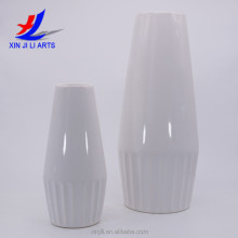 Modern simple ceramic white vases for wedding