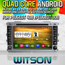 Witson S160 Android 4.4 Car DVD GPS For PEUGEOT 408/PEUGEOT 308 with Quad Core Rockchip 3188 1080P 16g ROM WiFi 3G Internet