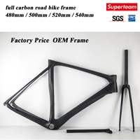 2016 new design carbon road bike frames with black color glossy finish