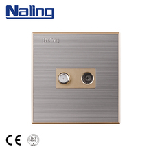 Naling Hot New Products Standard Grounding Universal Satellite Socket Tv Socket