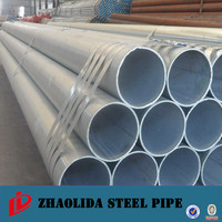 construction building steel pipe ! hot dip galvanized support tubes astm a53 gr a sch 40 thread npt with coupling