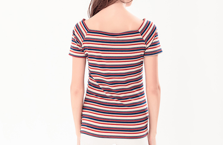 High Quality Custom Women Wholesale Striped T-shirt