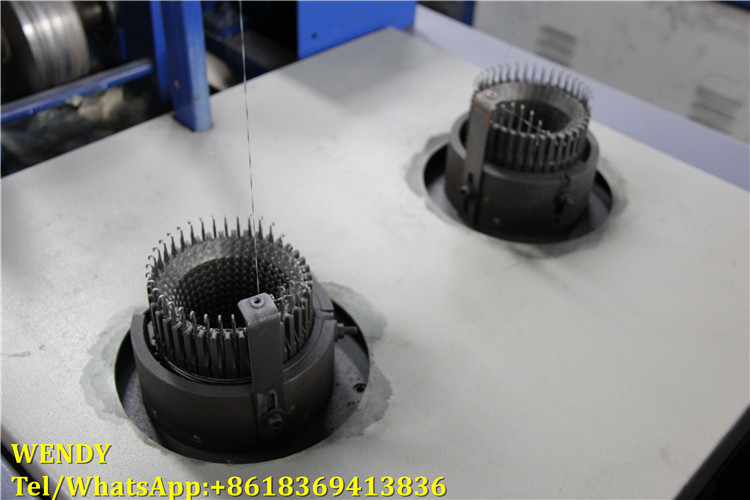 Kitchen cleaning ball mesh scourer machine,mesh knitting machine