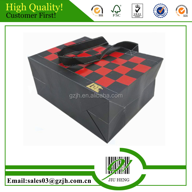 2016 New fancy custome logo printed shopping bag ,gift bag,paper bag with handle