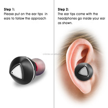 Ture Bluetooth Earbuds Mini Sport Earpiece Earphone with charging case