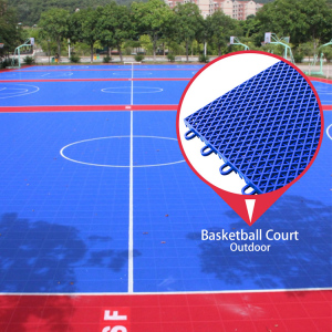 100% new pp synthetic good costs interlocking outdoor sport court basketball flooring