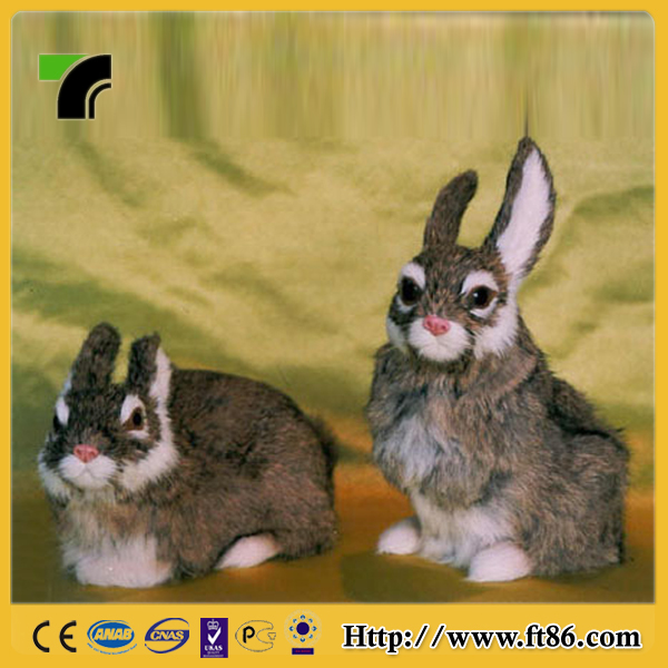 cuddly lifelike furry figurine smooth feel realistic rabbit toys