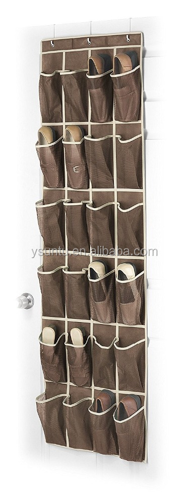 Over The Door Shoe Organizer Brown color