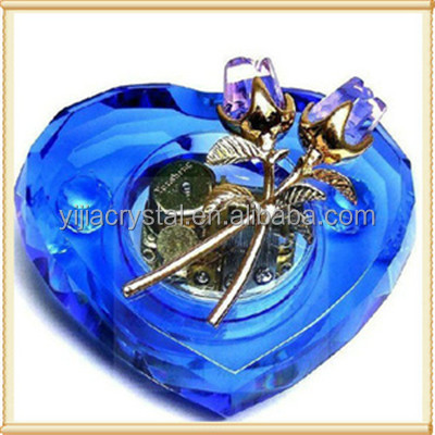 Wedding favors Artificial K9 crystal hand crank music box movement