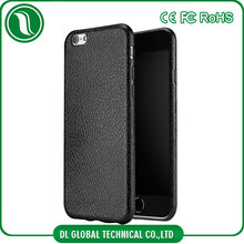 From china tpu phone case for iphone 7 leather case full rim protector litchi leather grain soft case