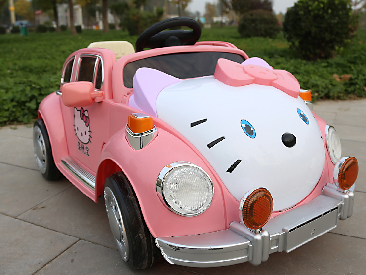 2016 hello kitty four-wheel double drive electric kids car
