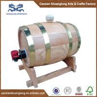 Used Oak Wood Barrel With Stainless Steel Container And Stand