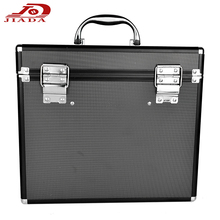 Simple and stylish square pattern cubes Cosmetic case black diamond pattern imitation aluminum R11 combo box