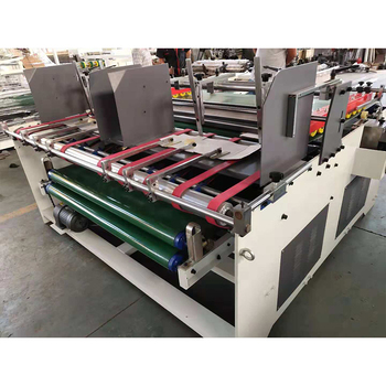 Gluing Corrugated Carton Board automatic glue fold stitching machine carton box