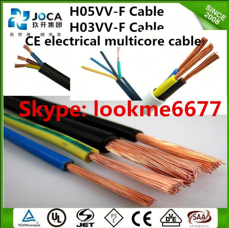 CE certificated OEM hot sale H05VV-F wire for hanging lamp