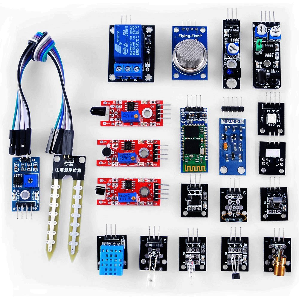 20 in 1 Modules Sensor Kit Learning Package for UNO R3 Mega2560 Mega328 Nano Raspberry Pi
