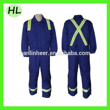 Hi vis orange working ppe flame resistant coverall for winter