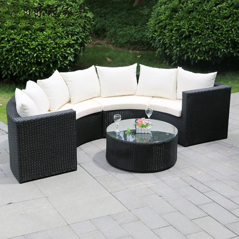 Patio Round Semic Circle Garden Wicker Sofa View Semi Circle Wicker Sofa Love Rattan Product