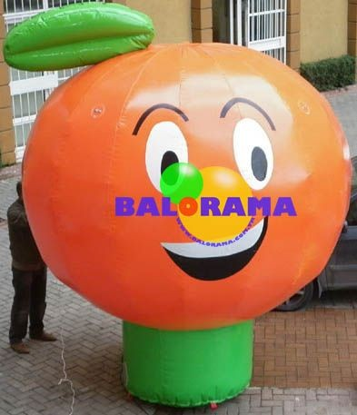 orange advertising balloon, advertising inflatable