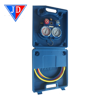R410A Dual Manifold Gauge with Refrigerant Charging Hose