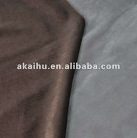 100% polyester Light Brown /Gray Velvet Kintted Fabric
