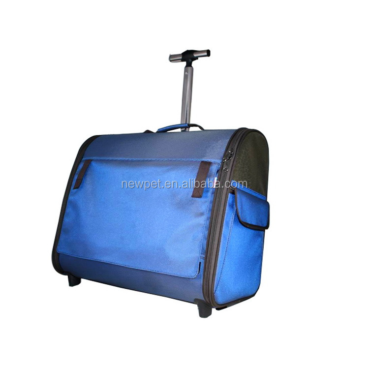 China-made best sell collapsible dog trolley bag transparent pet bags