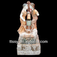 Boy And Girl Indoor Marble Fountain