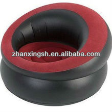Top level flocked pvc chair inflatable,inflatable pvc chair