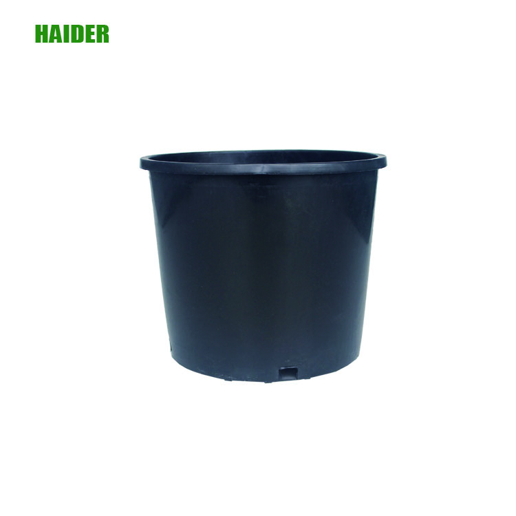 Black plastic 1,2, 3, 5,7, 10,15 Gallon Nursery Pot from Factory Price
