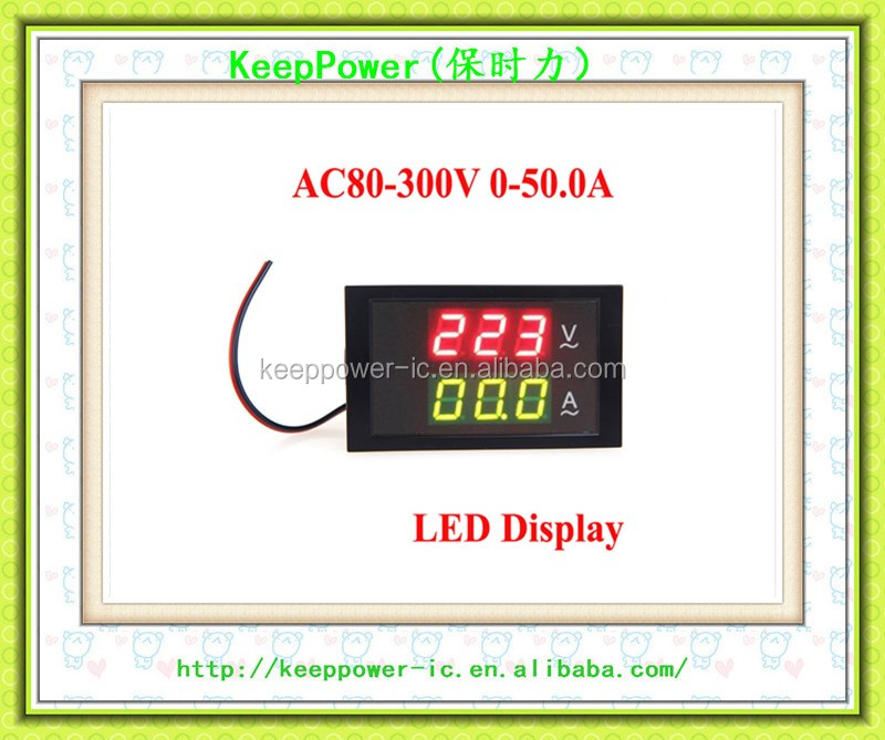 LED digital AC voltage ammeter DL85-2041 110V 220V 0-50A