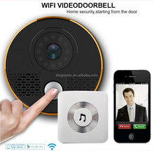 Wifi doorbell video wireless video door phone intercom system with remote door release for home Chinese suppliers hot sale