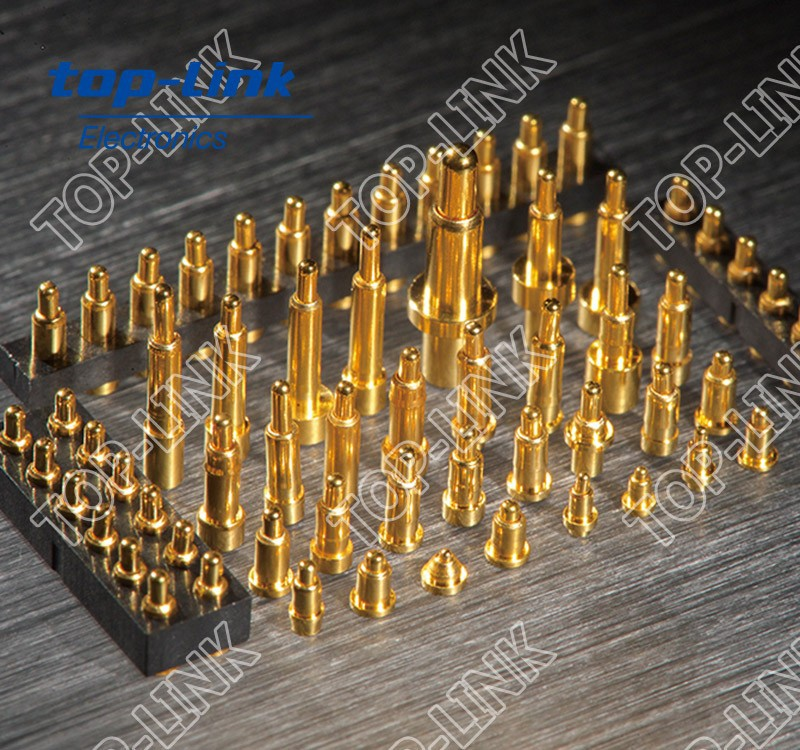 Spring loaded probe, Low-Resistance Brass Pogo Pin Connector for Wearable Devices