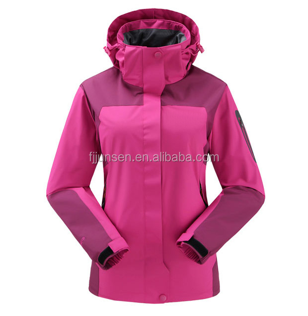 Women outdoor wear 100% nylon waterproof Jacket function windbreaker